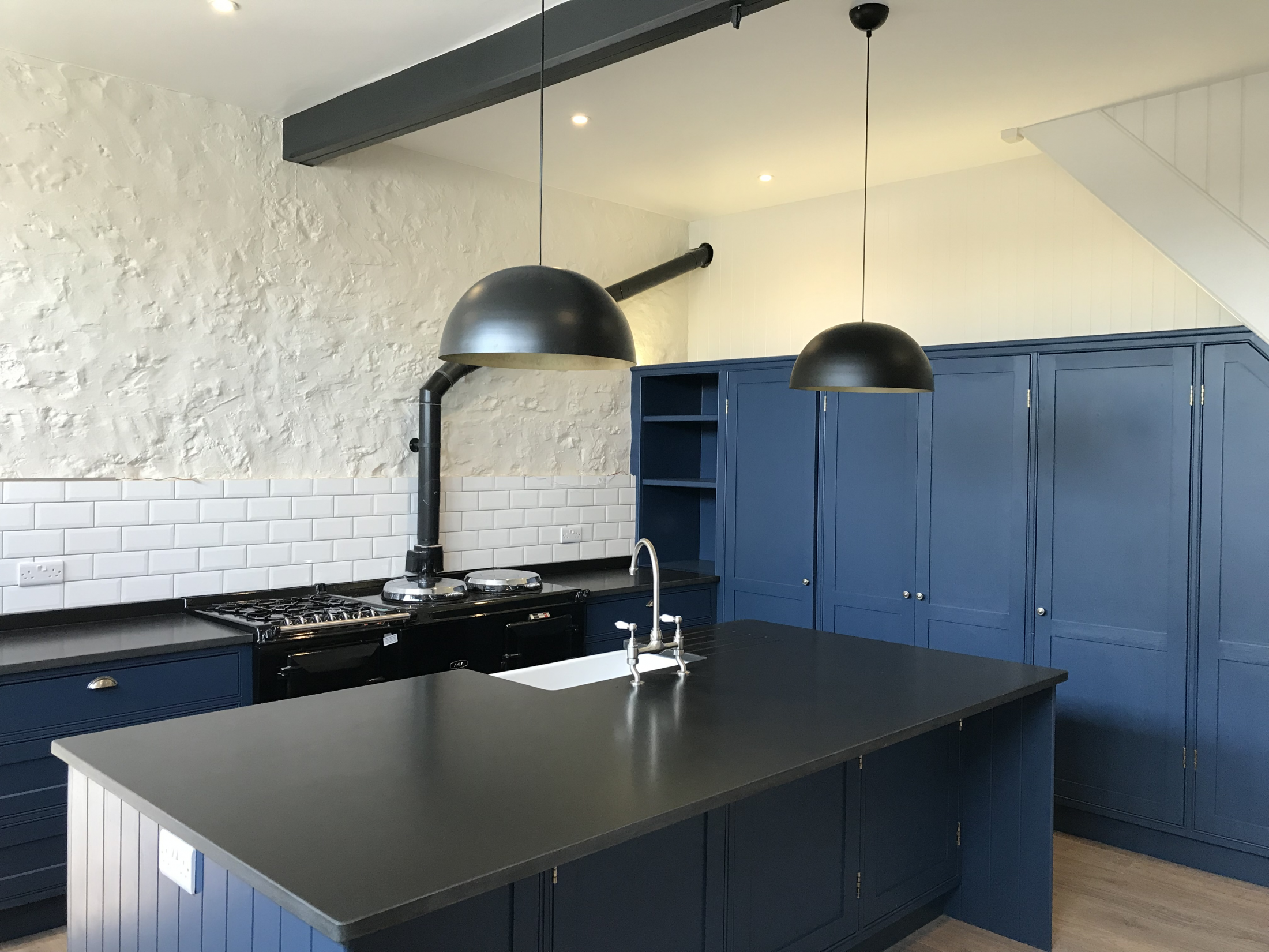 Blue Bespoke Kitchen